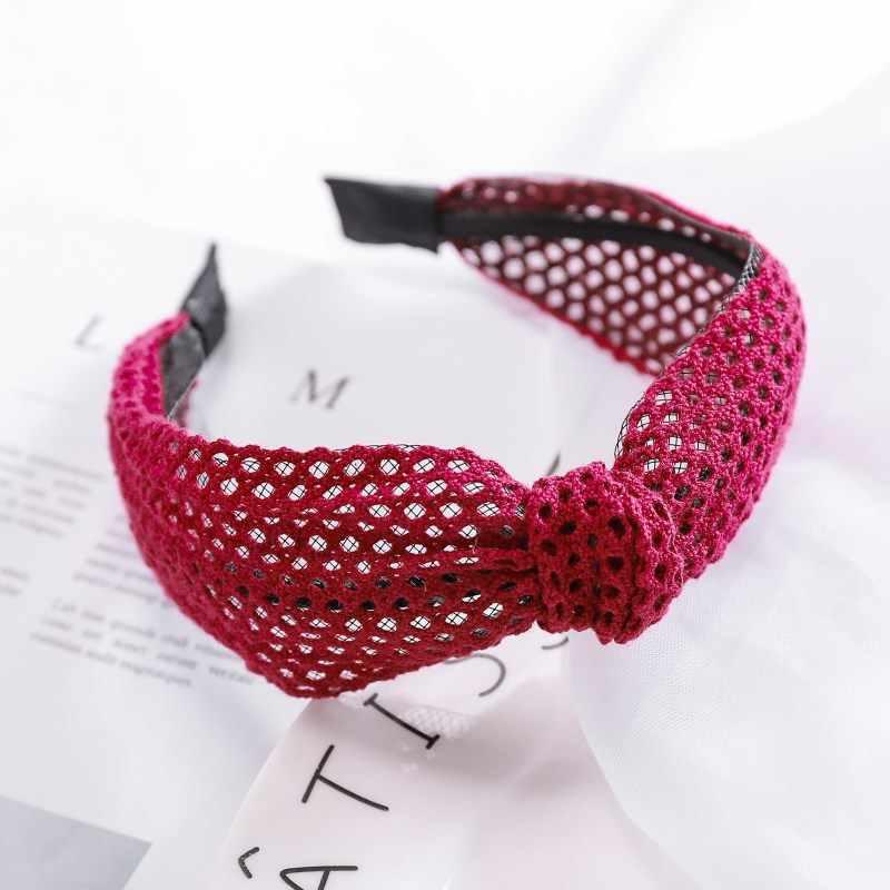 2019 New Simple Lace headband Knotted Wide Hairband women girls hair head hoop band accessories female Holder headwear headdress