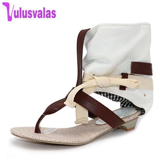 f401a7a5ce65b VulusValas Size 34-43 Women Ladies Flat Sandals Fashion Dress sexy Flats  Summer High Heels Shoes Slippers Footwear Sandals