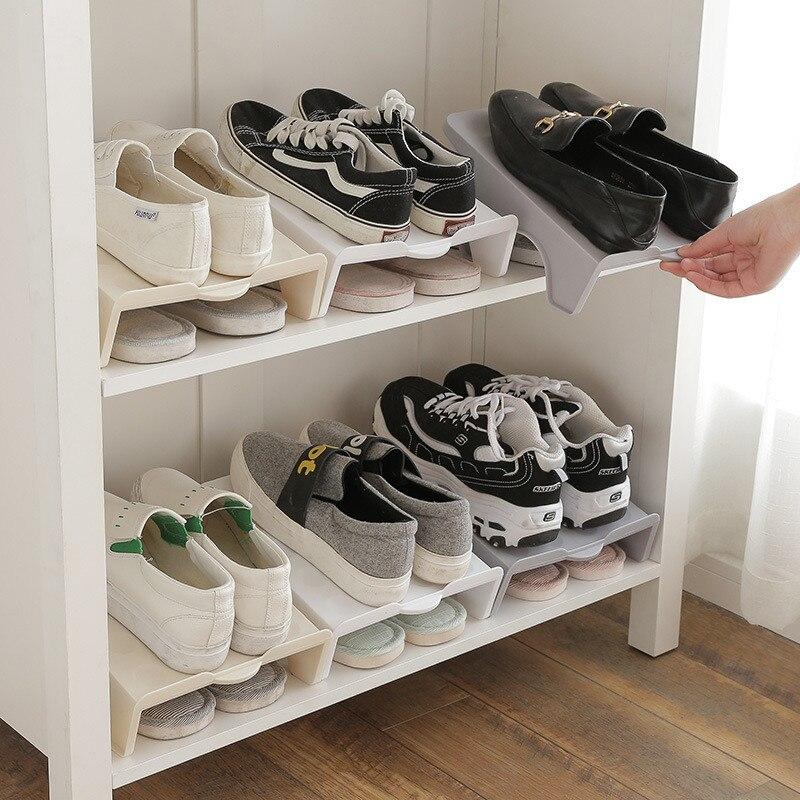 Dikke dubbele schoenenrekken Moderne schoonmaak Opbergschoenen Rek - Home opslag en organisatie - Foto 2