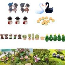 Minitaburete bonito de varios estilos para parejas de animales, árboles, puente, miniaturas, figuras de acción de micropaisaje, suministros de jardín de hadas
