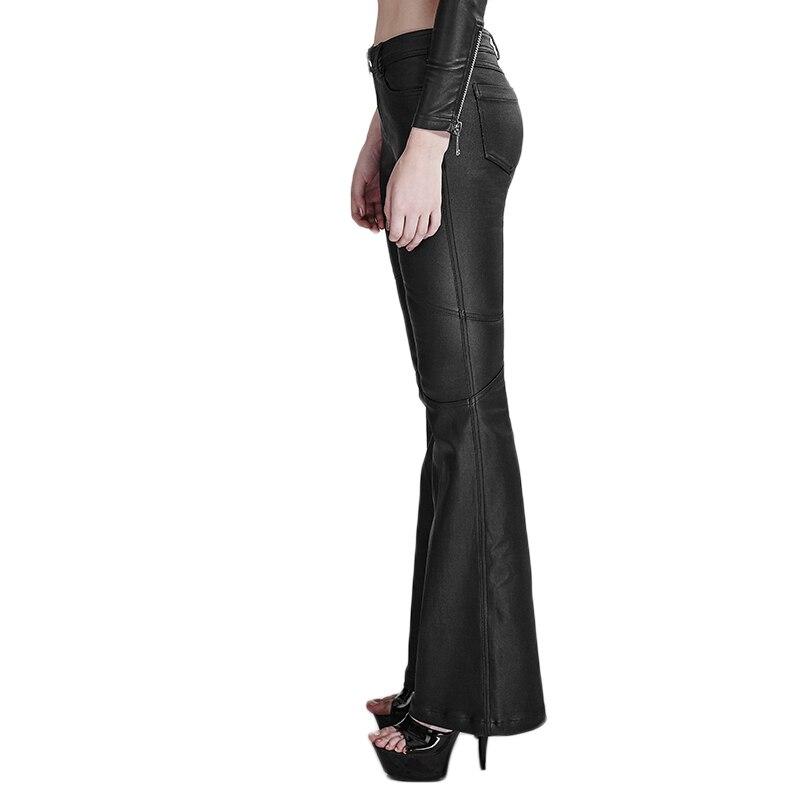 Punk Bell Mujeres bottomed Cintura Pantalones Luz Gimnasio Verano Adhesivo Largos Llamarada Alta Black De Steam Gótico Moda APqwAd
