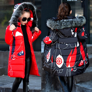 Image 4 - Liakhouskaya 2018 Childrens Clothing Winter Fur Jacket For Girls 12 years Old Warm Hooded Thick Cotton Padded Long Solid Coat