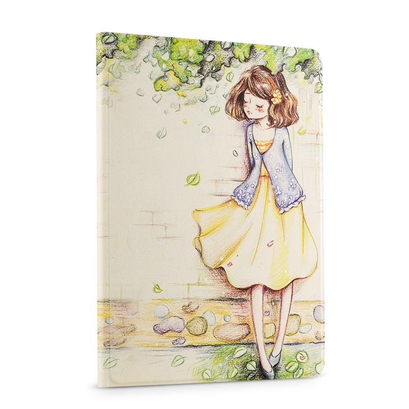 For ipad 5 Smart Magnet Leather case Luxury 3D Stereo Relief Painting Flower Stand for ipad