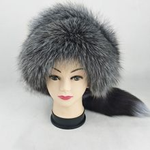 13ded62d 51662 New Fashion Fox Fur Hat Ladies Winter Hat thickening Warm ears Mongolia  hats fur ethnic