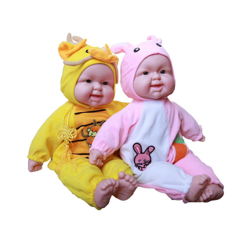 Intelligent doll baby toy doll toy early learning toy artificial doll laughing baby 40cm Zodiac 12 styles hatsune miku winter plush doll