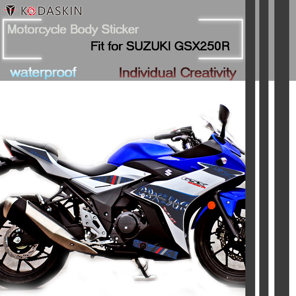 KODASKIN Motorcycle Accessories Waterproof Body Sticker for SUZUKI GSX250RKODASKIN Motorcycle Accessories Waterproof Body Sticker for SUZUKI GSX250R