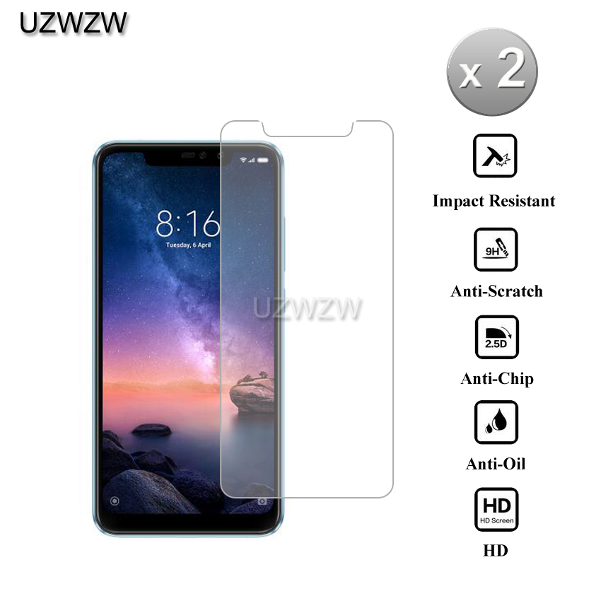 2pcs For Xiaomi Redmi Note 6 Pro 2.5D 0.26mm Tempered Glass Screen Protector Protective Glass For Xiaomi Redmi Note 6 Pro Glass2pcs For Xiaomi Redmi Note 6 Pro 2.5D 0.26mm Tempered Glass Screen Protector Protective Glass For Xiaomi Redmi Note 6 Pro Glass