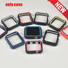 New Double Color Silicone Cover for Apple Watch Case 42/38mm Protect Shell iwatch Series 3 2 1 Accessories