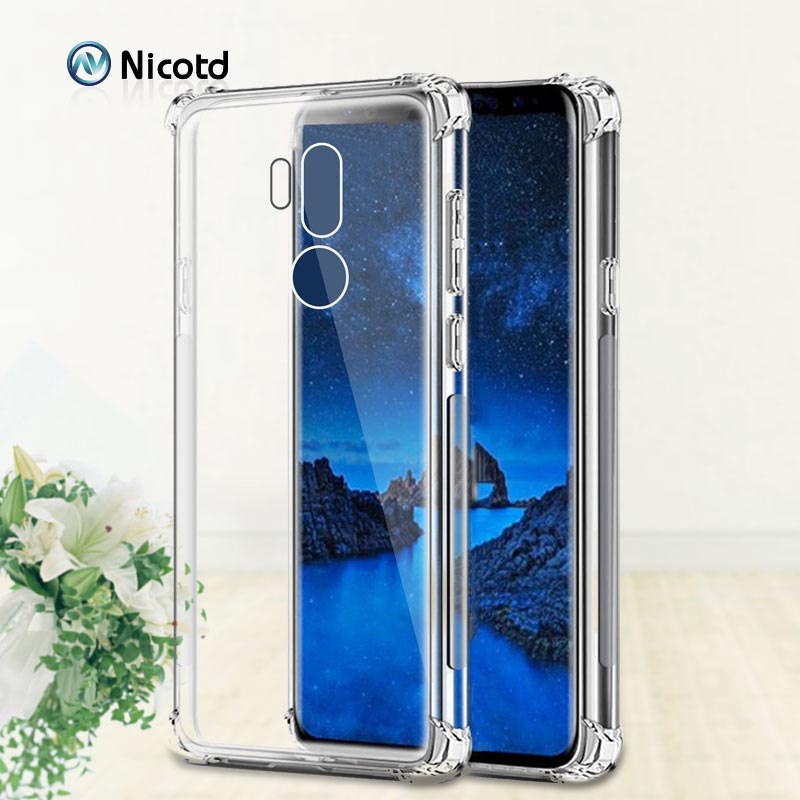 For LG G7 V50 ThinQ TPU Transparent Soft Back Cover Case For Lg G8s G8 ThinQ Q60 Q9 K50 K40 V35 V40 Clear Shockproof Cover Back