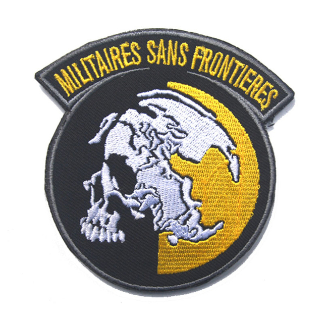 US $2 24 25% OFF|Embroidered Badges MGS:Peace Walker Tactical Hook & Loop  Badge Emblem Military Morale Metal Gear Solid Embroidery Badges-in Badges
