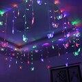 Conectar 5 m/3.5 m Levou Cortina borboleta Seqüência de Luz Luzes 8 modos de Luzes de Casamento de Natal de Ano Novo Decoração do partido plug