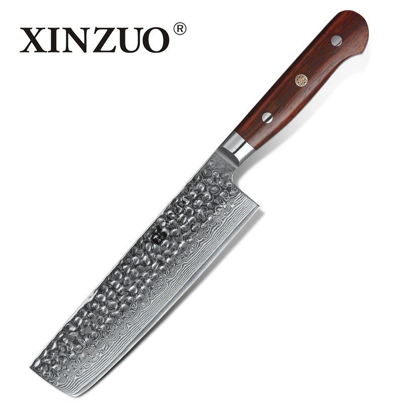 Ev ve Bahçe'ten Mutfak Bıçakları'de XINZUO 7 inç Cleaver Et Dilimleme Bıçağı Paslanmaz Çelik 67 Katmanlar Şam Çin Şef Mutfak Doğrama Bıçağı Gülağacı Kolu'da  Grup 1