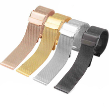цена на Milanese Loop Bracelet Stainless Steel band For Apple Watch  strap for iwatch series 4 40mm 44mm