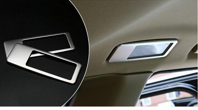 2pcs rear Reading light lamp cover trim For BMW X5 E70 2009 2010 2011 2012 2013 carbon fiber rear rearview mirror cover trim 2pcs for bmw x5 e70 2008 2009 2010 2011 2012 2013