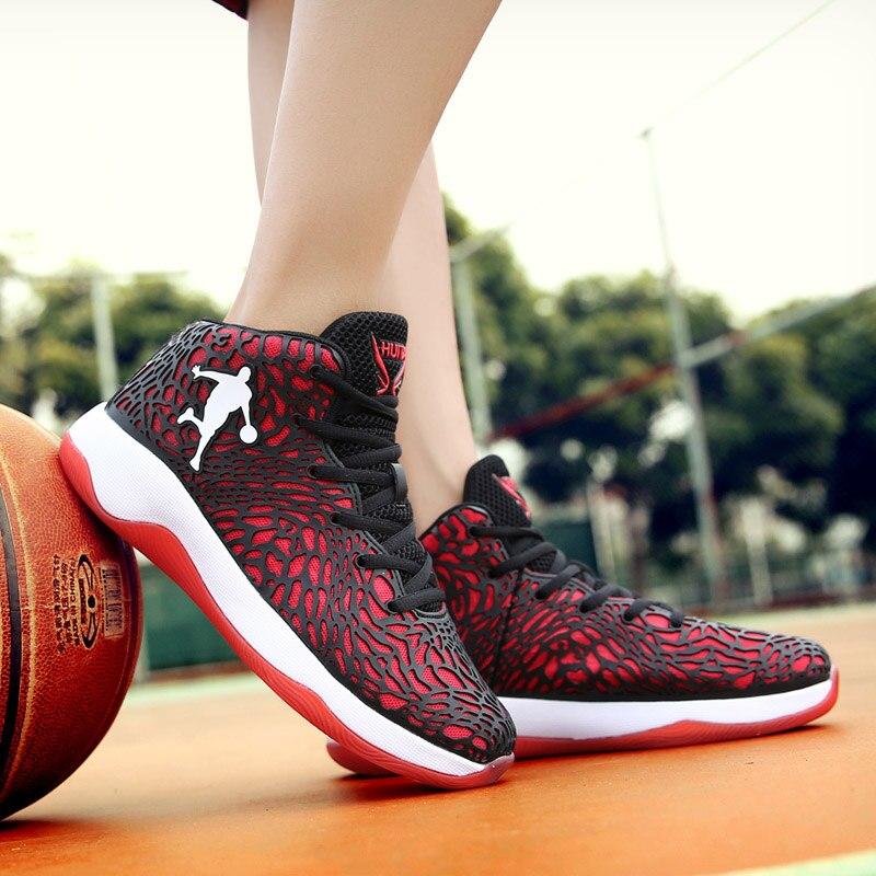 Mann Licht Jordan Basketball Schuhe Atmungsaktive Anti slip Basketball Turnschuhe Männer Lace up Sport Gym Stiefeletten Schuhe korb Homme