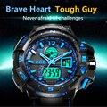 2016 Top Marca de Lujo de Los Hombres Relojes Deportivos 50 M Impermeable Moda Casual Reloj de Cuarzo Militar G estilo impactante ARMY Men relojes