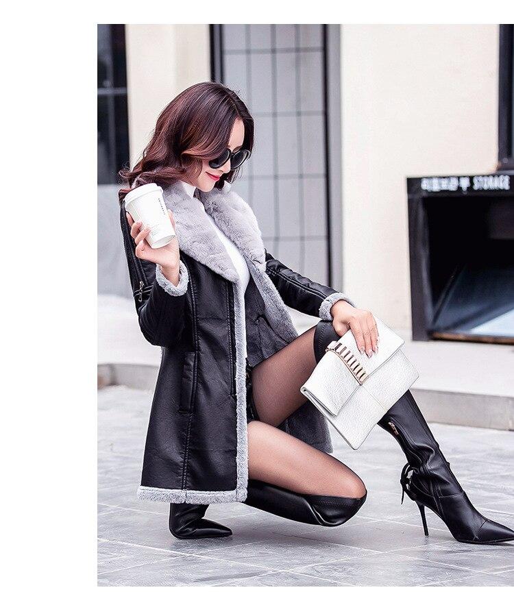Großhandel 39 Einteiliger PU Lederjacke Herbst Auf Jacke Damen Womam Plüsch 2018 Leder Faux Female Mantel Damenmode Pelz Von Yujian1865 Winter 92EWeHIDY