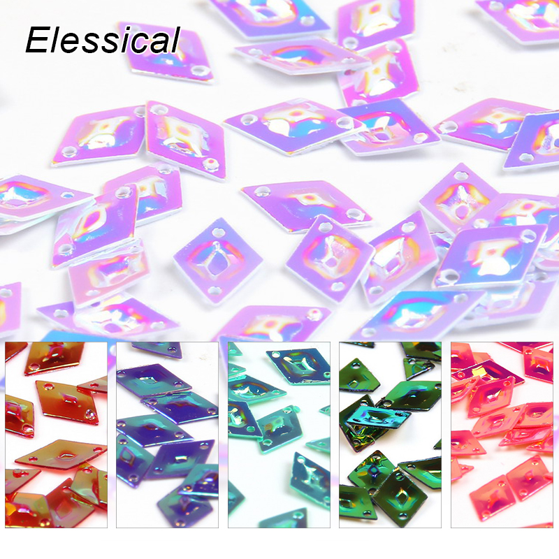 Elessical 10g/bag Holographic Nail Glitters Rhombus Sequins Brilliant Spangle Nails Art Decoration Accessories For Sewing Supply