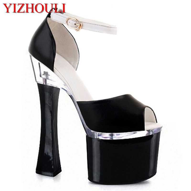 Open-toed sandals 18cm high bottom ultra-high with waterproof Taiwan club for womens shoes fashion showOpen-toed sandals 18cm high bottom ultra-high with waterproof Taiwan club for womens shoes fashion show