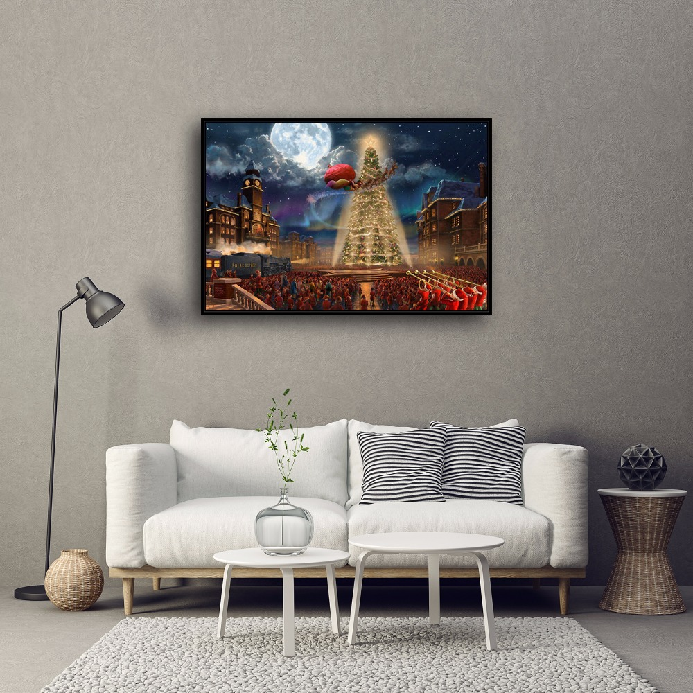 Thomas kinkade animation canvas painting poster hd posters and prints wall pictures home for Home interiors thomas kinkade prints
