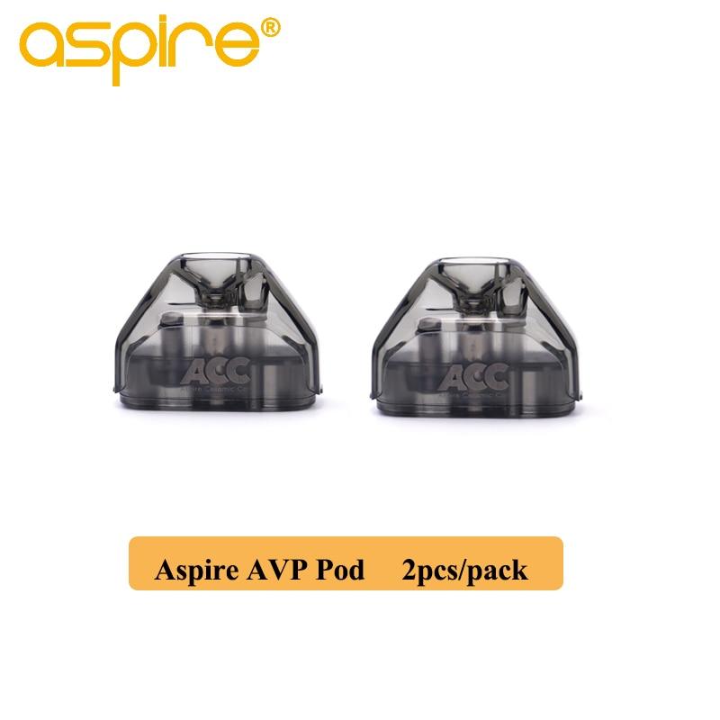 2 teile/paket Aspire AVP Pod 2ml Kapazität Vape Pod Patrone Mit 1.2ohm Baumwolle/1.3ohm Keramik Spule Elektronische Zigarette zerstäuber