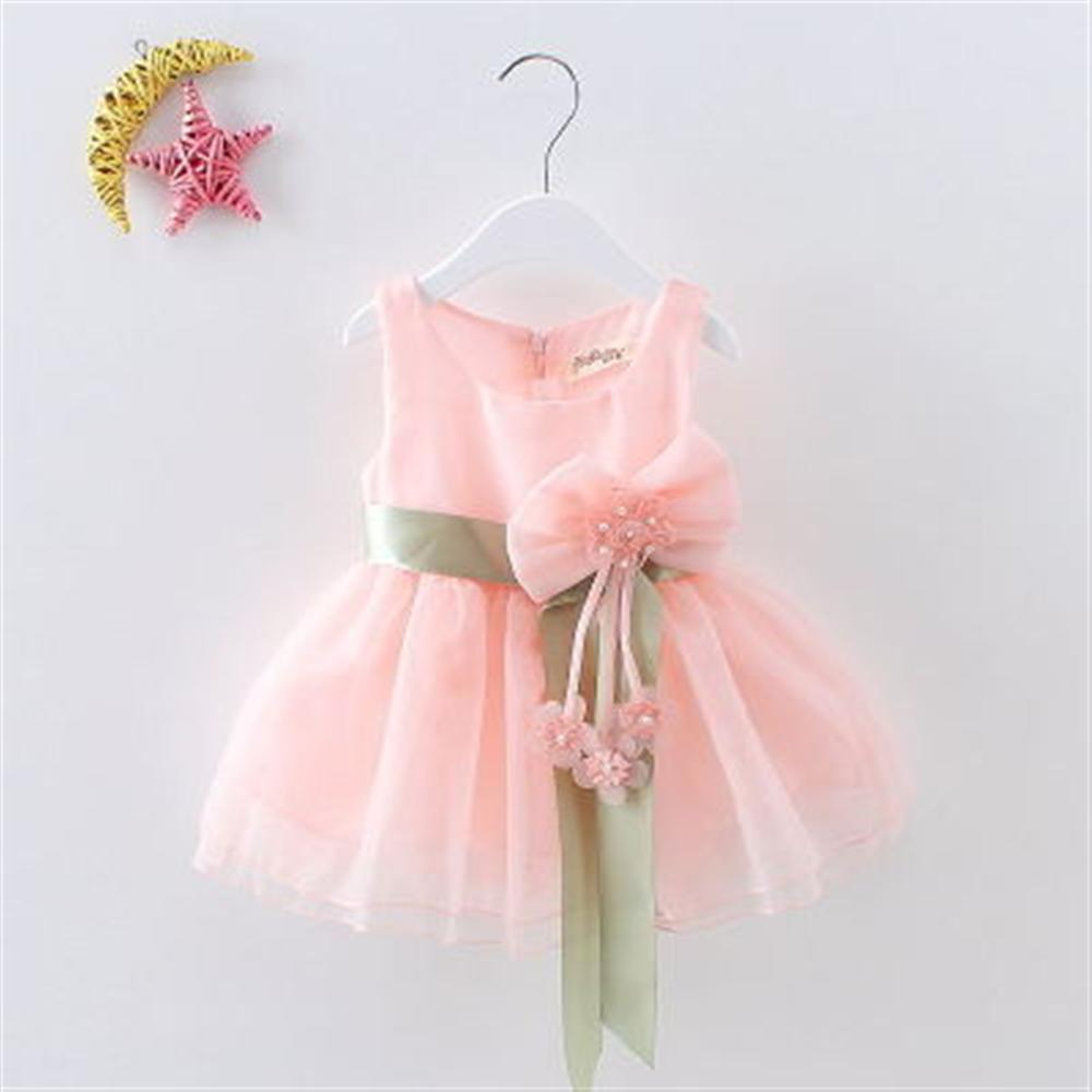 Baby Girl Net Dresses 2018 New Summer Children Clothing Flower Princess Dress for Girls Kids Party Dress Girl Clothes new summer pink children dresses for girls kids formal wear princess dress for baby girl 3 8 year birthday party dress