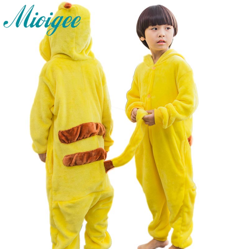 baby girls and boys clothes New Design Warm Winter Unisex kids Onesie Pajamas Anime Costume Pikachu Sleepwear