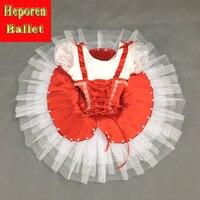 Ballet Pannenkoek Zwanenmeer Ballet Kostuum Ballerina Jurk Kids Ballet Tutu Rok, Custom Made Wit Rood Tutu Gratis Verzending