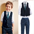 new fashion style children blazer set wedding suit kids cotton jackets blazer suits for baby boys 4pics/set