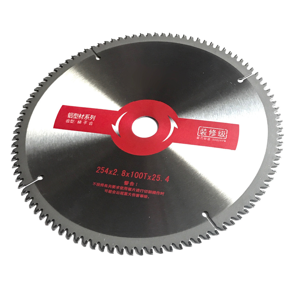 Free shipping decoration quality grade 1PC  254*25.4*100T TCT saw blade for NF metal aluminum/copper/zinc/lead profile cutting free shipping 1pc professional quality 180 2 2 25 4 80t tct saw blade circular saw blade for nf metal aluminum profile cutting