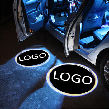 JingXiangFeng 2X LED Car Door Welcome Light For Skoda Octavia Superb Fabia Roomster Wireless 3D Projector Logo Laser Ghost 2x auto led car led wireless door led welcome light projection lamp for renault laser buld for lada for bmw for volvo for toyota