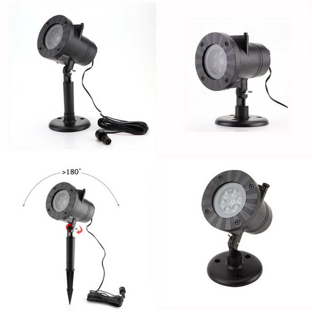 Novelty LED Card Projection Lamp Christmas Halloween Light Festival Holiday Lighting With 12 Patterns
