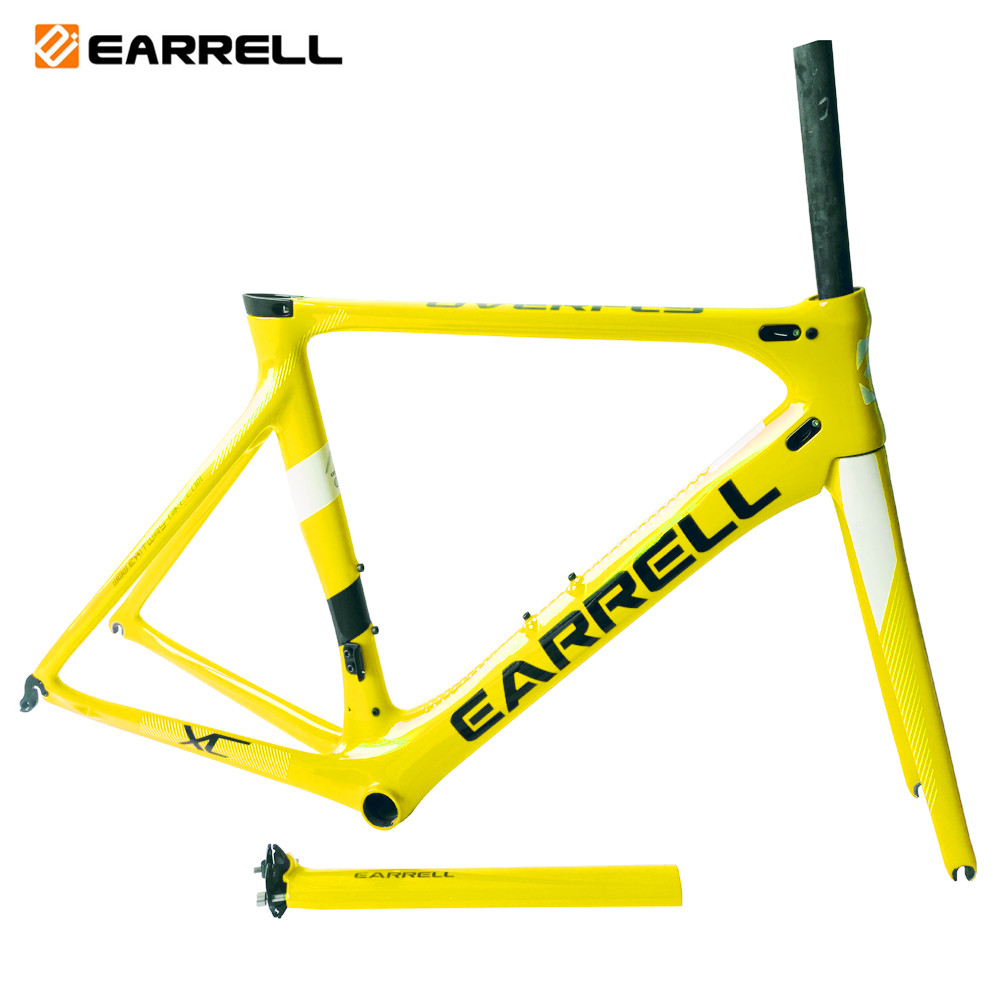 2019 Earrell T800 UD Glossy Surface Road Bike Bicycle Carbon Frameset Customzied Color Frame Is Available BB86  Bicycle Frame