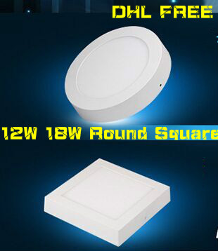 VARM! Rund Fyrkant LED-lampa 6W 12W 18W Ytmonterad Led Downlight - LED-belysning