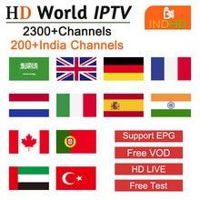 INDhdtv IPTV India árabe Italia IP TV Polonia Alemania IPTV Turquía Ex Yu Pakistán África IP TV árabe India código IPTV para Android