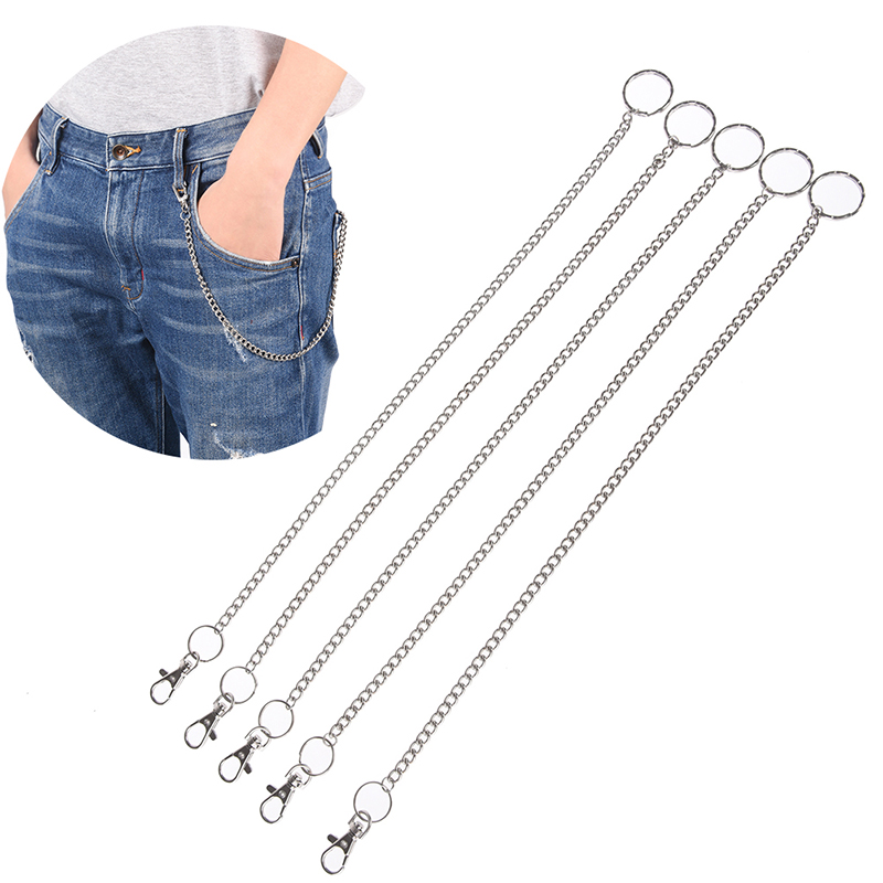 Hot Sale Long Metal Wallet Belt Chain Rock Punk Trousers Hipster Pant Jean Keychain Ring Clip Keyring Men HipHop Jewelry 38cm