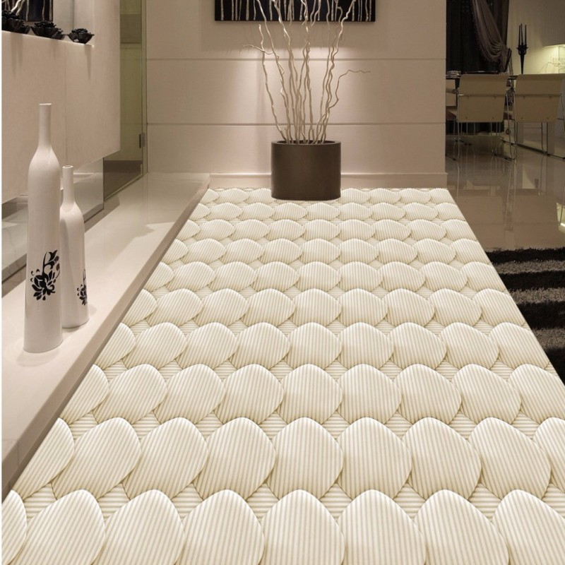 ФОТО Free Shipping high quality 3D Modern fashion geometric abstract pattern floor mural bathroom kitchen decoration floor wallpaper
