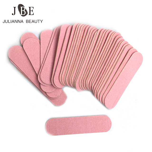 100 Pcs Mini 6cm Professional Nails Files Art Tools Sand Emery Board Sandpaper Double Sided