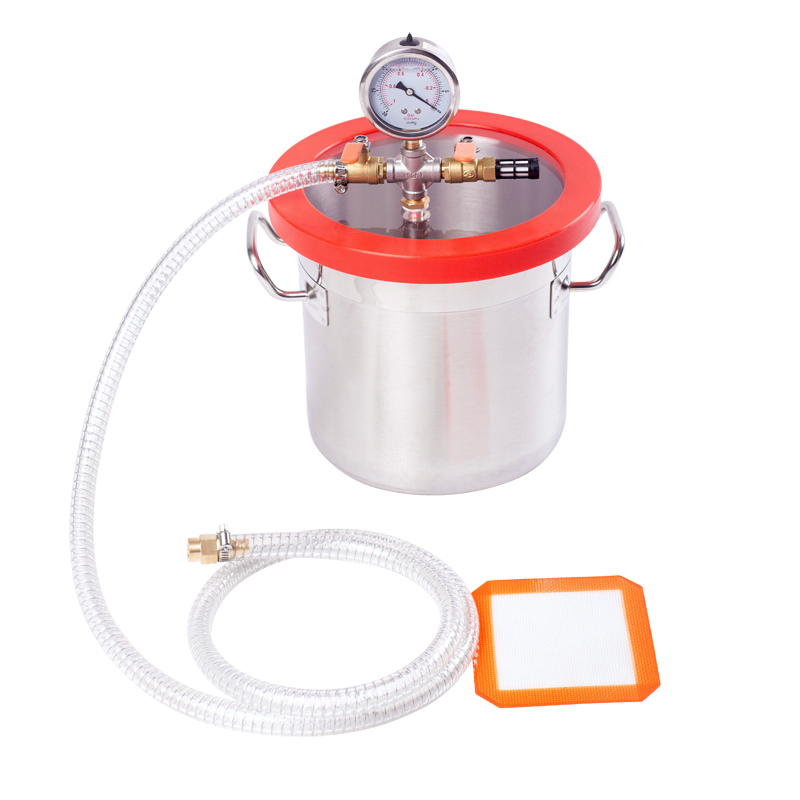 Mayitr 5 Gallon Vacuum Chamber Kit Barrel with Degassing Silicone Pad Lid Gasket Hose Gauge 38mm cylinder barrel piston kit
