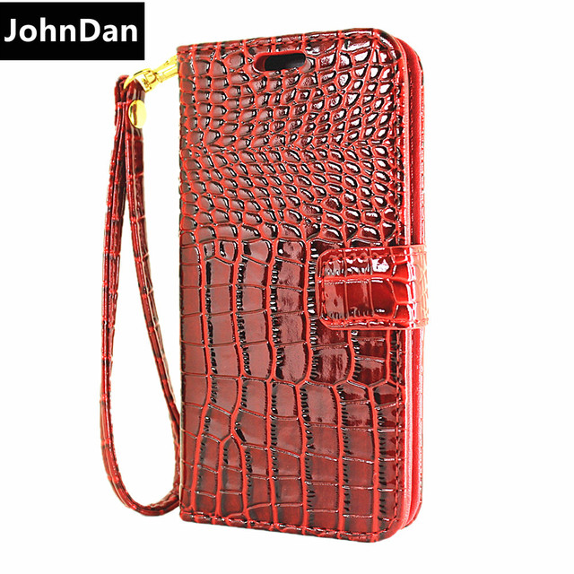 Case For Apple iPhone 6s 6 7 8 Plus X 5S SE 5 S E Luxury Alligator Leather Wrist Strap Flip Wallet Card Case Chain Fold Cover