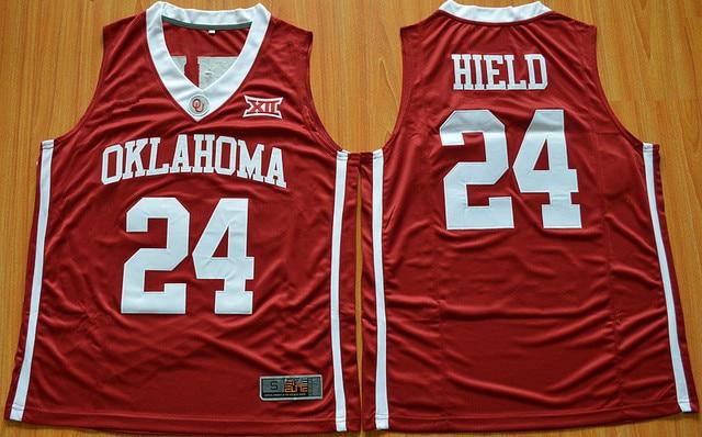 a9d4b320d 24 Buddy Hield 2016 Men s Ncaa College Basketball Jerseys Red  24 Buddy  Hield Sooners OU High School Jersey
