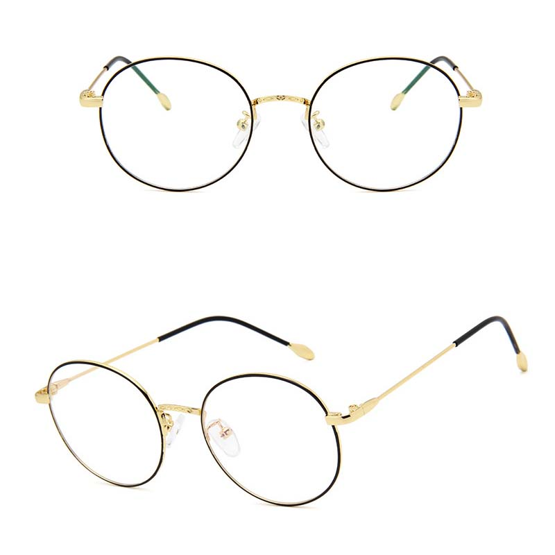 a5cf71e13 2018 ZICK BRAND Women Optical Glasses Frame Retro Metal Zero Diopter ...