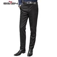Seven7 2017 Formal Wedding Men Suit Pants Fashion Slim Fit Dress Pants Casual Brand Business Straight