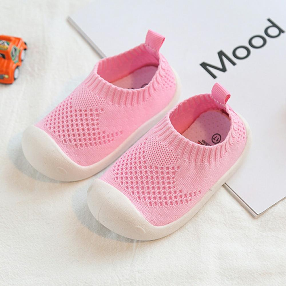 First Walkers Infant Toddler Casual Mesh Shoes Fashion Non-slip Soft Bottom Baby Girl Boy Shoes Newborn Shoes Age 6-24M