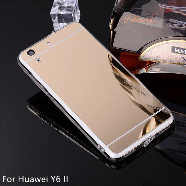 factory price 4905b 32fcd US $1.95 |For Huawei Y6 2 Mirror Phone Case Soft TPU Cover For Huawei Y6 II  Case For Huawei Y6II shell Back Cover on Aliexpress.com | Alibaba Group