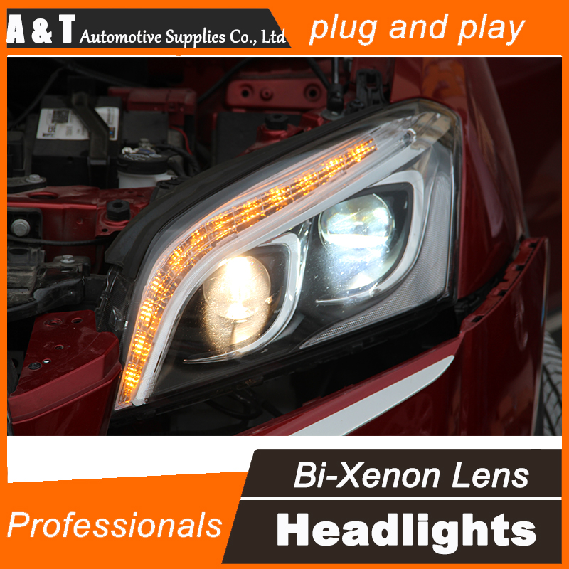 Car Styling for Chevrolet Trax LED Headlight Tracker Headlights DRL Lens Double Beam H7 HID Xenon bi xenon lens hireno car styling headlamp for 2004 2008 peugeot 206 headlight assembly led drl angel lens double beam hid xenon 2pcs