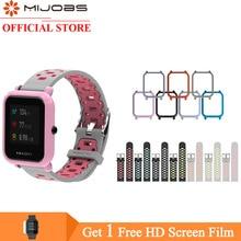 Mijobs 20mm Amazfit GTS Strap Silicone Bracelet Case Cover PC Shell Bumper for Xiaomi Huami Bip BIT PACE Lite Smartwatch