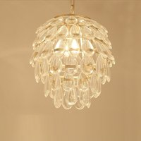 Modern Golden Frame Hanging Lamps Luxury Living Room Clear Glass Beads Hotel Pendant Lamp Balcony Corridor bEDROOM hANGING LAMP