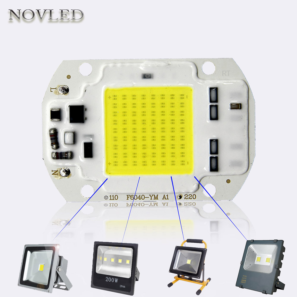 AC 220V LED Chips 20W 30W 50W High Power Integrated COB LED Bulb Chips White Light Source IC Driver Lighting