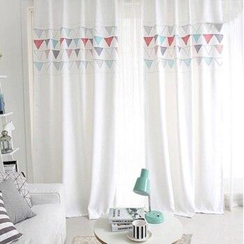 1x Drapery Panel  Window Dressing Covering  Drape  Wave Curtain Nursery Kids Children Room 145 x 180cm 220cm 240cm 270cm Flags